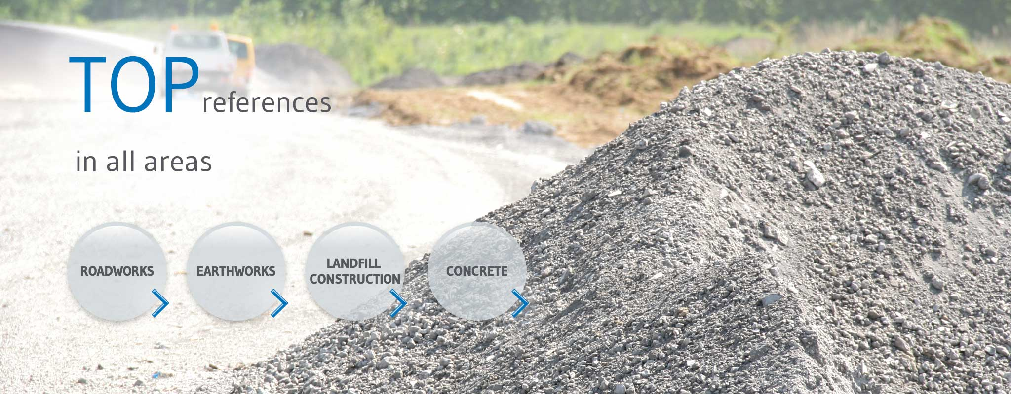 Secondary aggregates from IBA: Fields of application