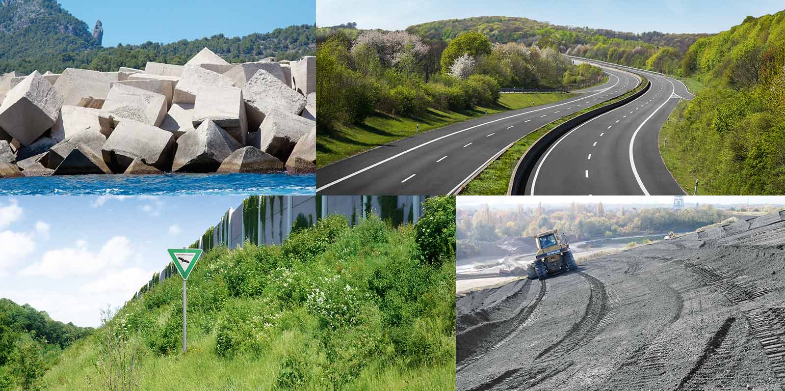 Fields of application for incinerator bottom ash include roads, earthworks, landfills, asphalt and concrete