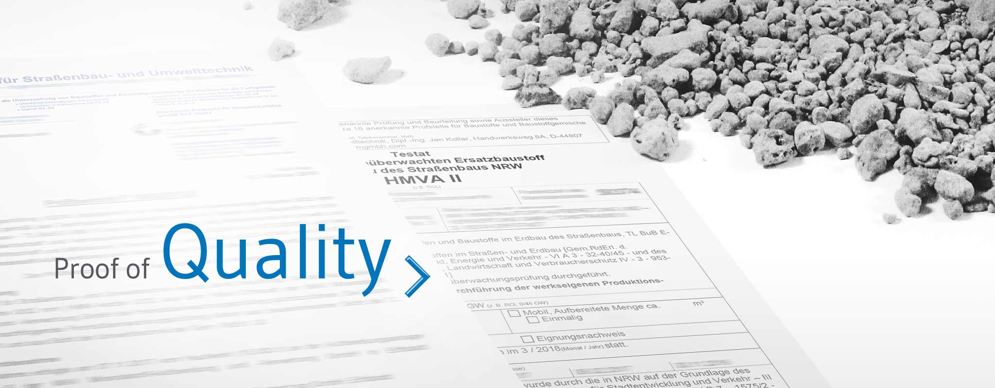 IBA quality control: Official test certificates